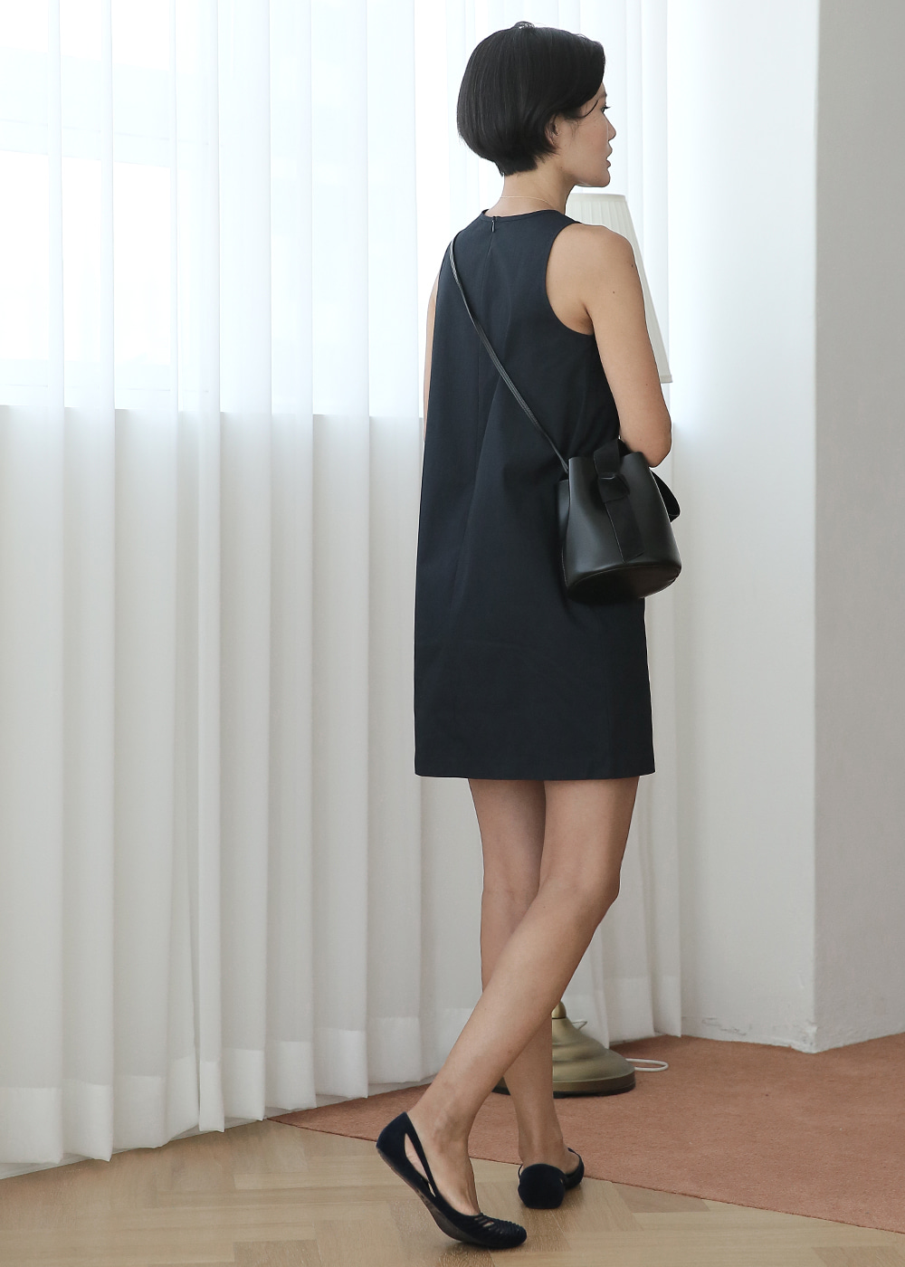 Simply H Line Dress Navy