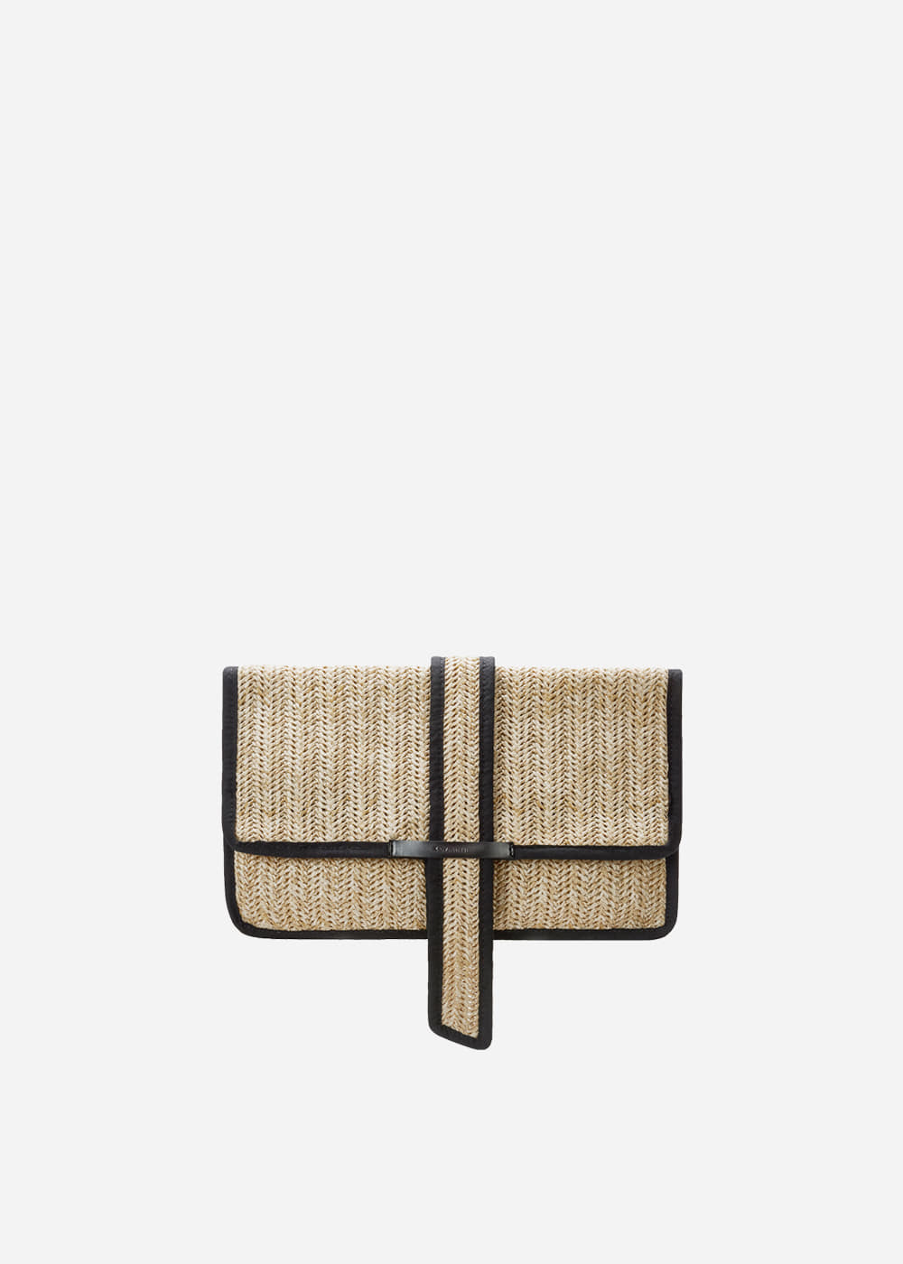 Outlined Rattan Clutch