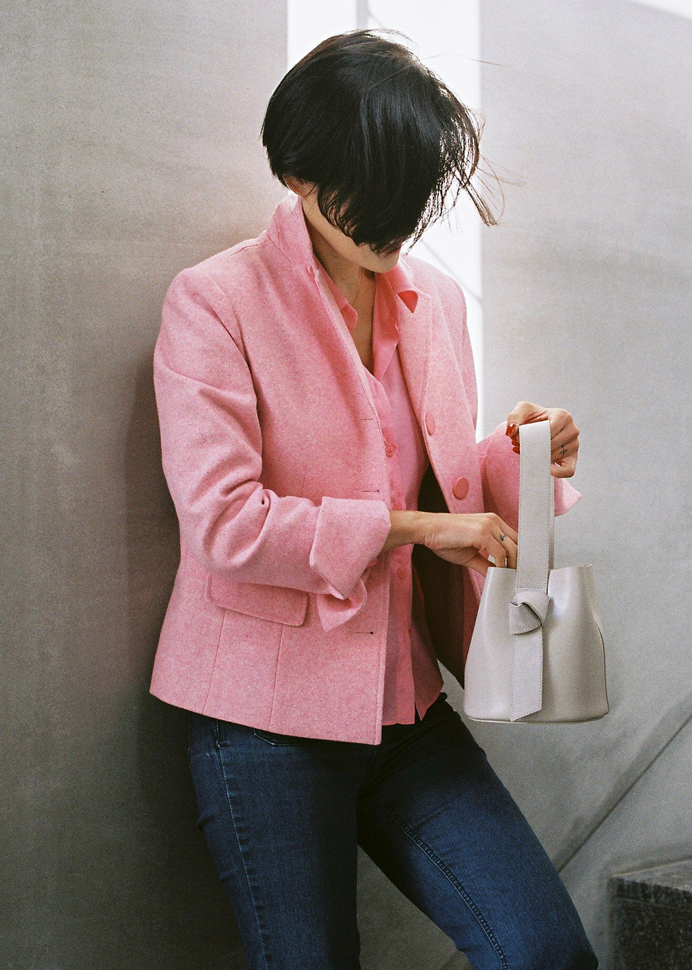 Classic Wool Jacket Pop Pink