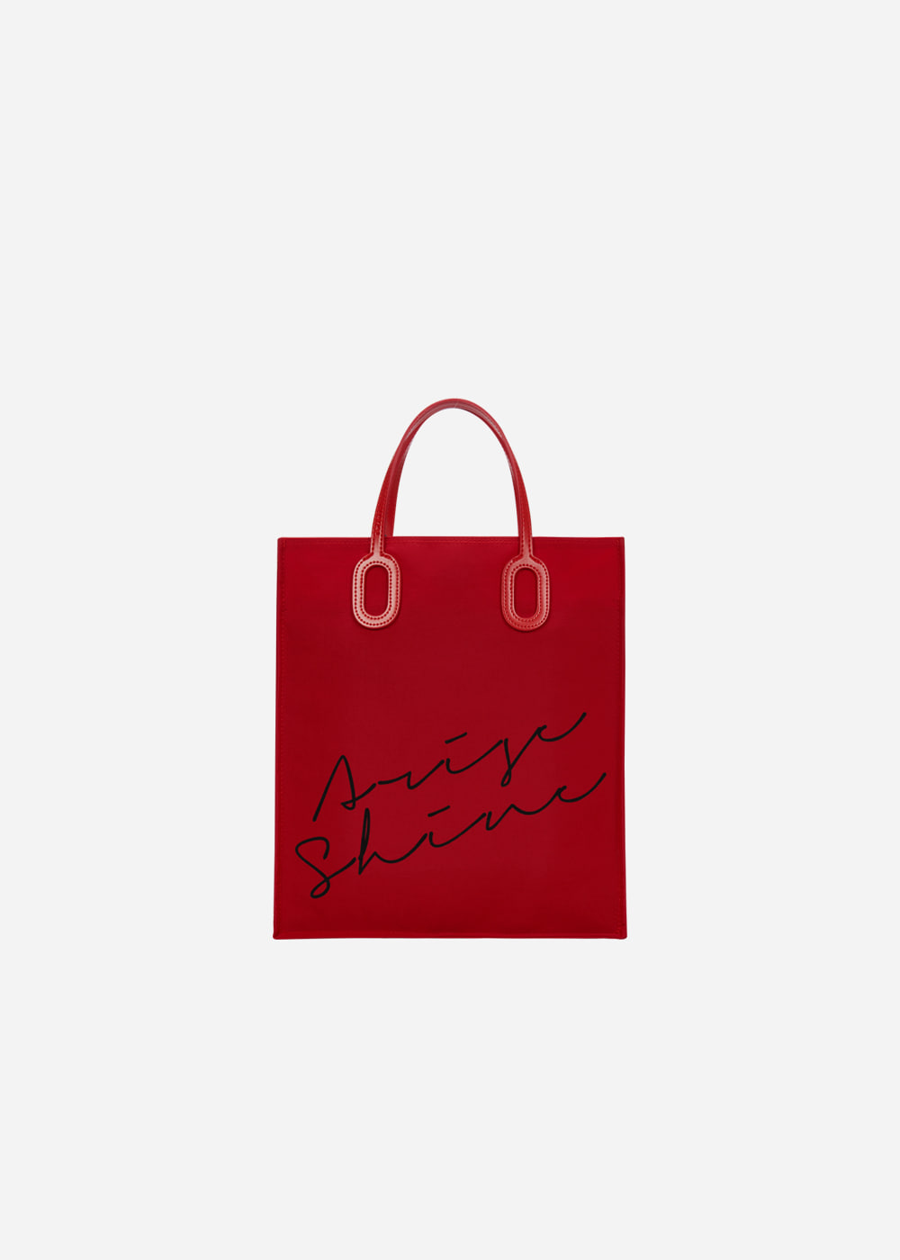 O Handle Tote Message Red