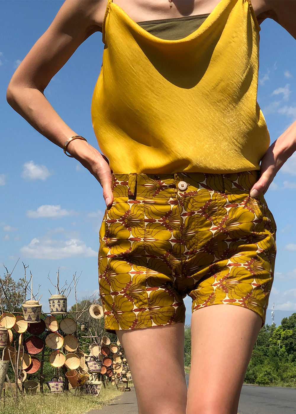 CUxAF Shorts Africa Mustard
