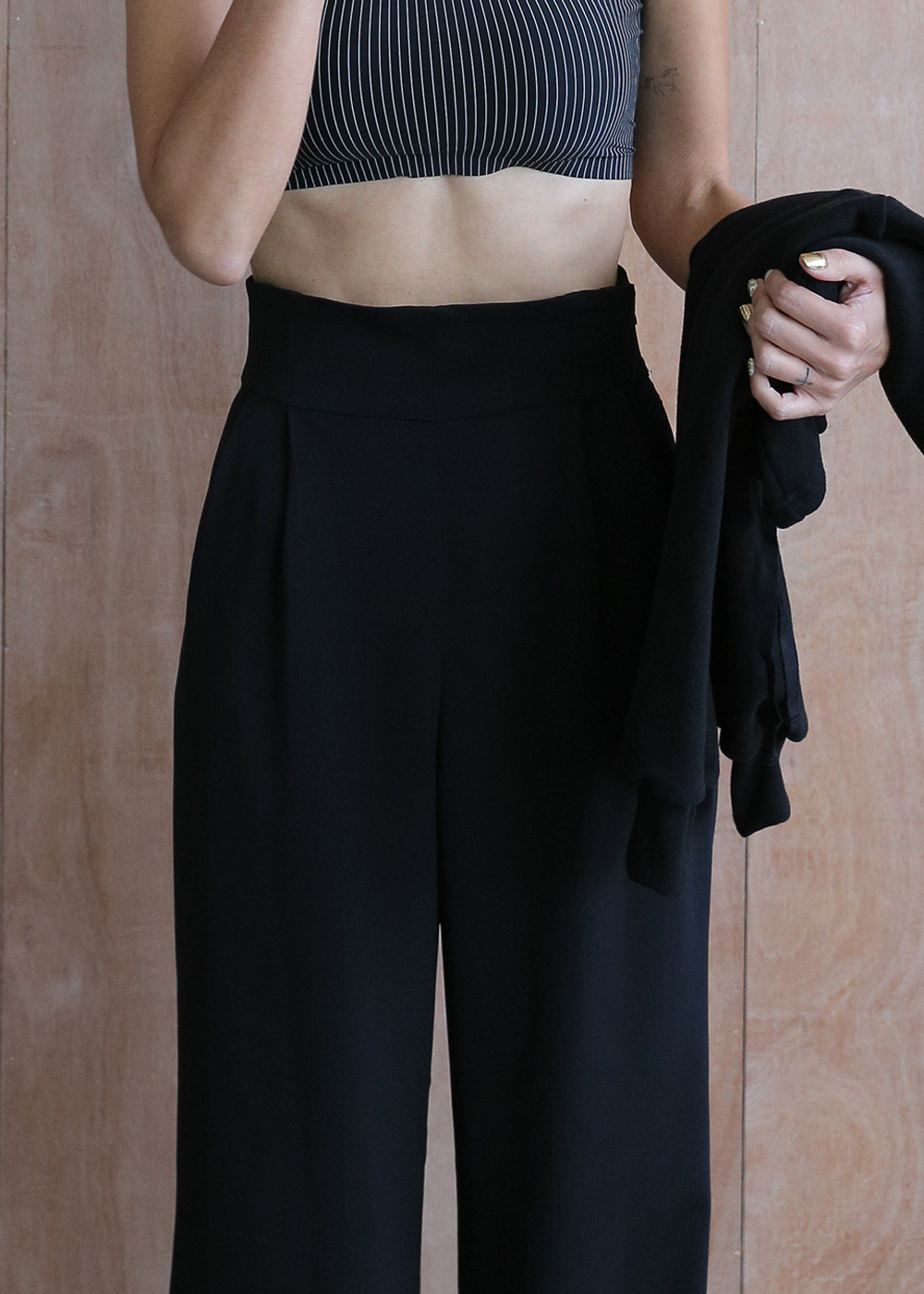 High Waist Wide Leg Trouser