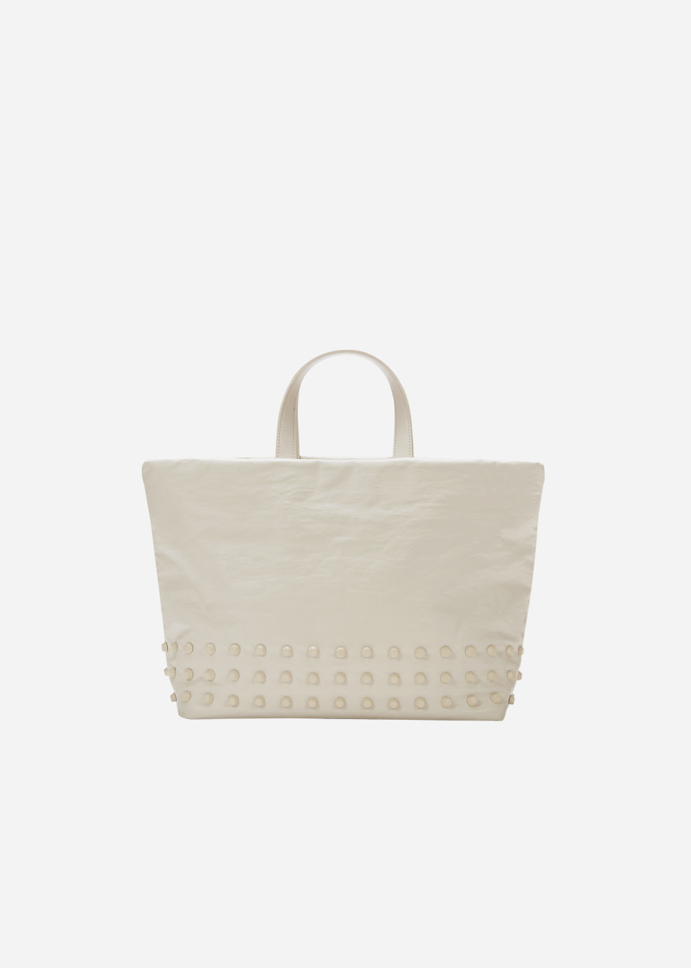 Stud Tote Cream Medium